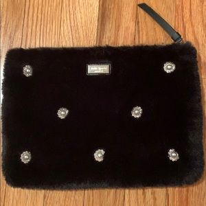 COPY - Kate Spade Fuzzy Embellished Clutch